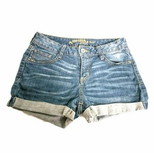 Arizona Jean Co Faded Cuffed Shorts